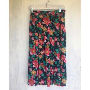 Vintage sheer floral midi skirt